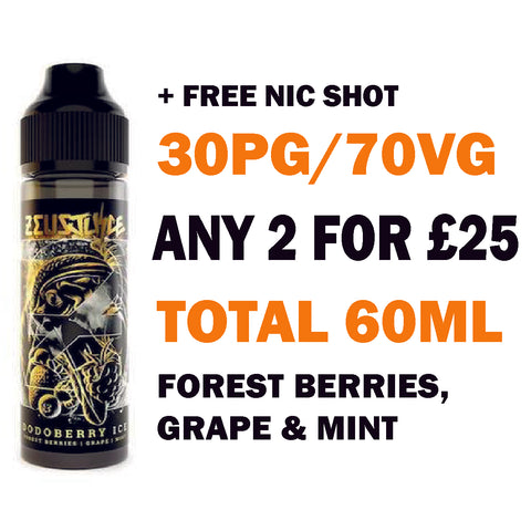 Dodoberry Ice 50ml | Zeus Juice - Any 2 for £25