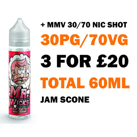 Jam Scone 50ml Shortfill - Mr Wicks