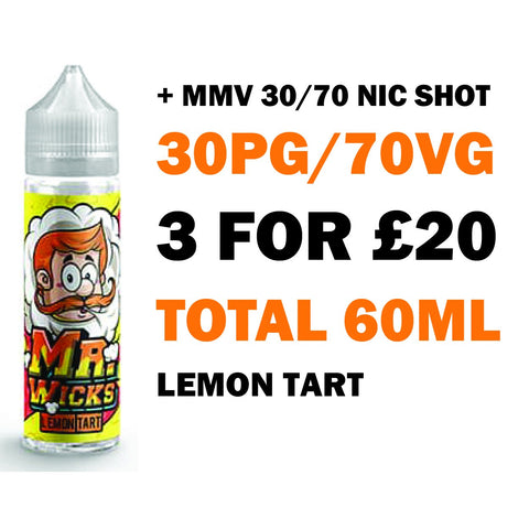 Lemon Tart 50ml Shortfill - Mr Wicks