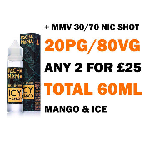 Icy Mango 50ml Shortfill | Pacha Mama - Any 2 for £25