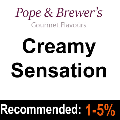 Creamy Sensation - Pope and Brewer's Gourmet Flavours