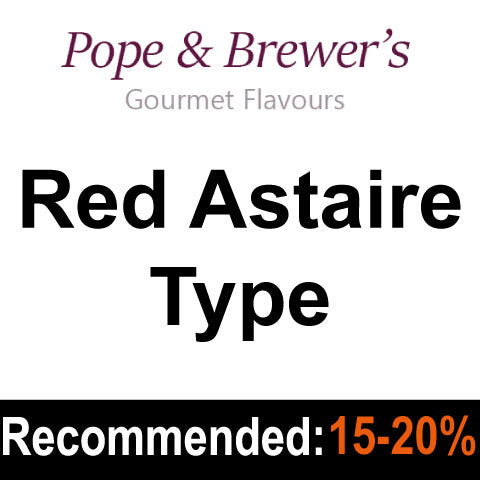 Red Astaire Type - Pope and Brewer's Gourmet Flavours