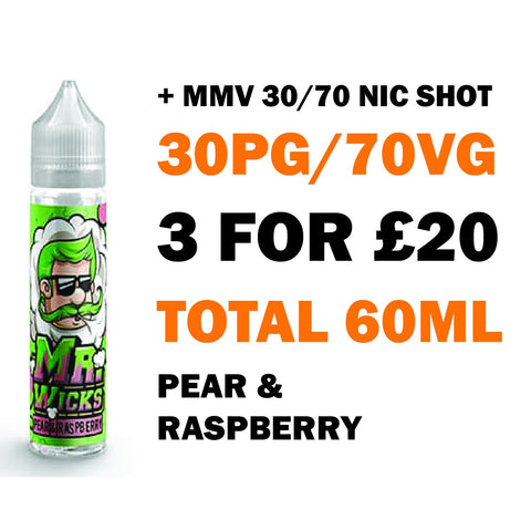 Pear & Raspberry 50ml Shortfill - Mr Wicks