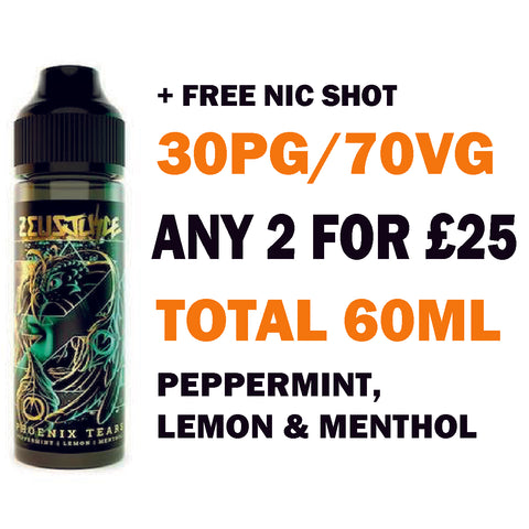 Phoenix Tears 50ml | Zeus Juice - Any 2 for £25