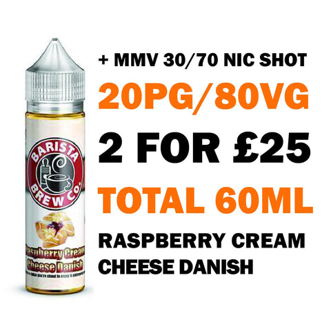 Raspberry Cream Cheese Danish 50ml Shortfill - Barista Brew Co.