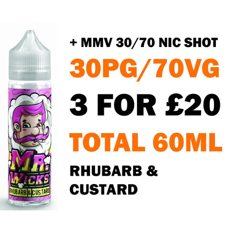 Rhubarb & Custard 50ml Shortfill - Mr Wicks