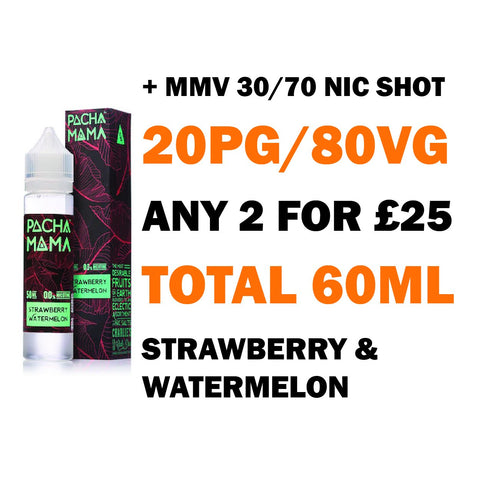 Strawberry Watermelon 50ml Shortfill | Pacha Mama - Any 2 for £25