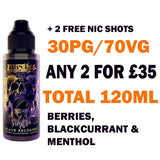 Black Reloaded 100ml | Zeus Juice - Any 2 for £35