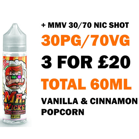 Vanilla & Cinnamon Popcorn 50ml Shortfill - Mr Wicks