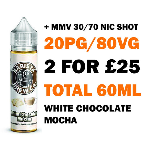 White Chocolate Mocha 50ml Shortfill | Barista Brew Co. - Any 2 for £25