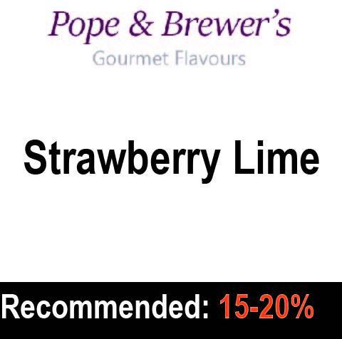 Strawberry Lime - Pope and Brewer's Gourmet Flavours