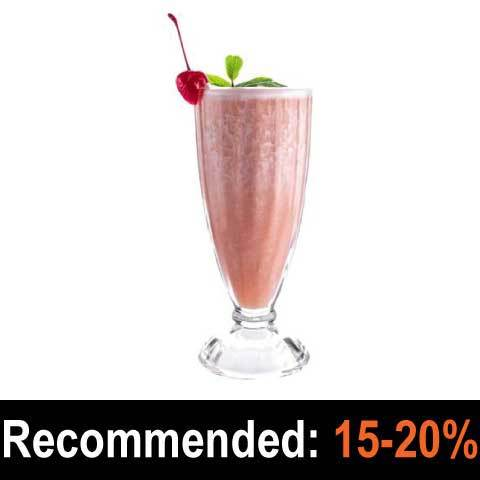 Strawberry Milkshake - Pope and Brewer's Gourmet Flavours