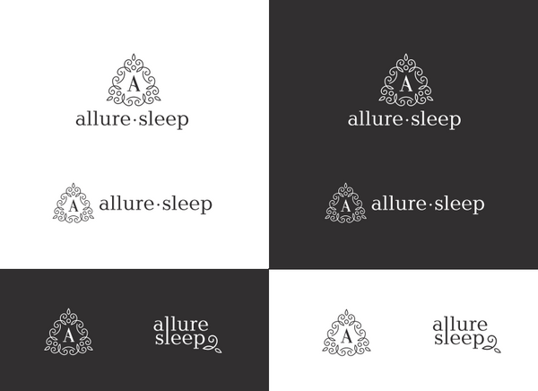 list of Allure sleep logos with different graphics