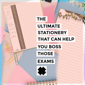 Revision tips using stationery.