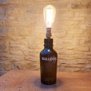 Badass Black Bulldog unusual bottle Lamp - Comme Glom
