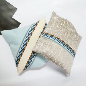 Baby Blue and Cream Cushions by Comme Glom ( 2 ) - Comme Glom