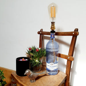 City of London Blue Gin Bottle Lamp - Comme Glom