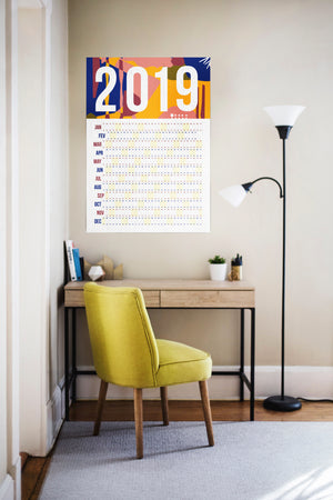2019 sophisticated wall calendar (multiple sizes) - Comme Glom