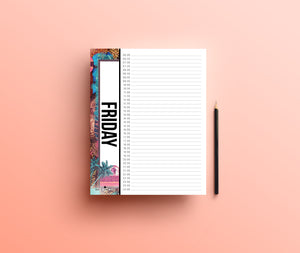 Patterned Daily Schedule Planner - Comme Glom