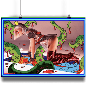 Tentacles Neon Slime Wall Art - Comme Glom