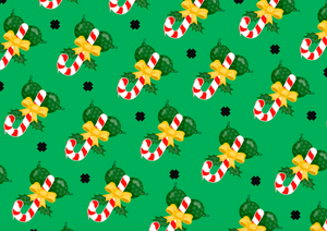Balls and Cane Wrapping Paper - Comme Glom