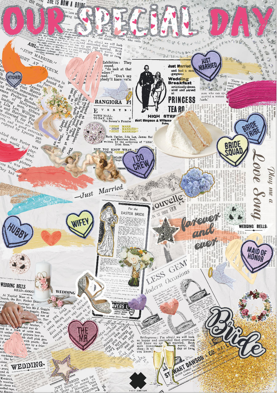 Our Special Day Wedding Collage Poster - Comme Glom