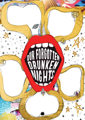 Our Forgotten Drunken Nights Collage Poster - Comme Glom