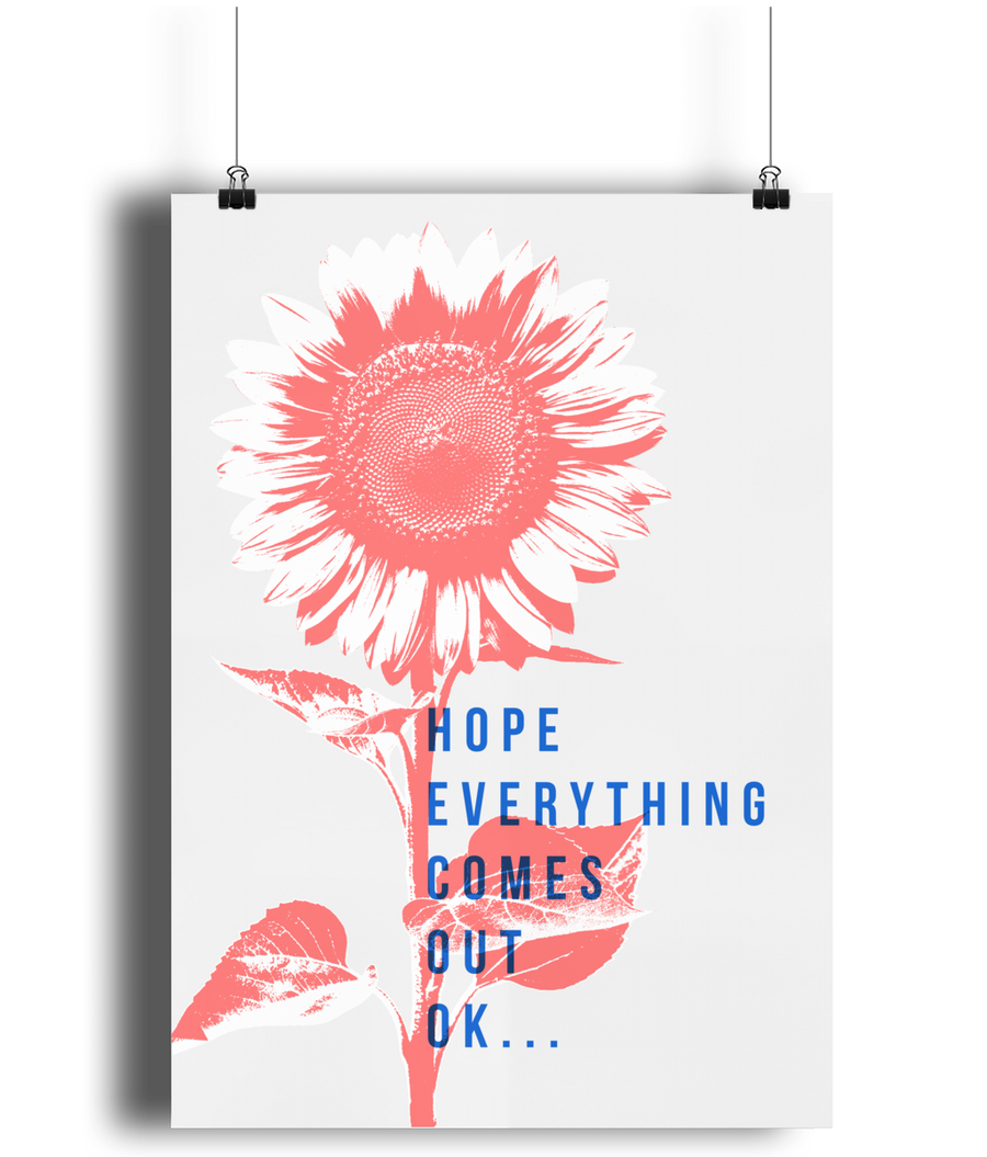 Hope Everything Comes Out Ok - Loo Poster - Comme Glom