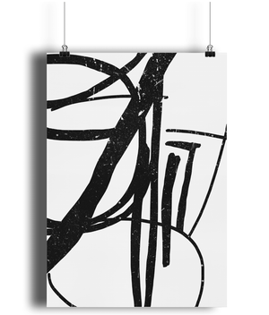 Squiggle Statement Wall Art - Comme Glom
