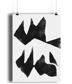 Jagged Edge Wall Print - Comme Glom