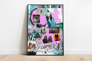 My Ride or Die Bitch Best Friends Collage Poster - Comme Glom