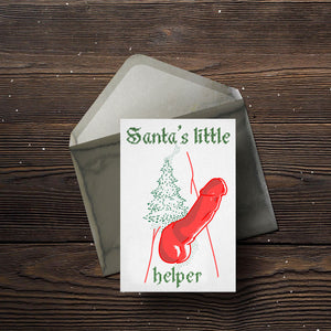 Santa's Little Helper Christmas Card(s) - Comme Glom