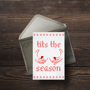 Tits The Season Christmas Card(s) - Comme Glom
