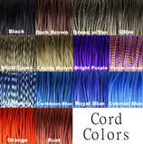 Nylon Cord Colors for Prusik Knot, Carabiner, and Stopper Nuts Necklace