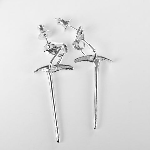 Ice axe dangle earrings - sterling silver