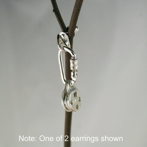 Bolt Hanger Anchor, Carabiner, and  Pulley - Handmade in sterling silver