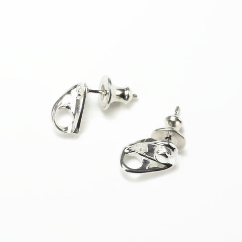 Bolt Hanger Anchor Post Earring Pair - Handmade in sterling silver