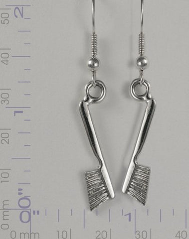 Chalk Brush Dangle Earring Pair - Handmade in sterling silver