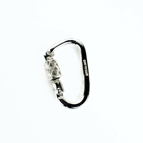 Functional Carabiner  Lock - Solid Sterling Silver