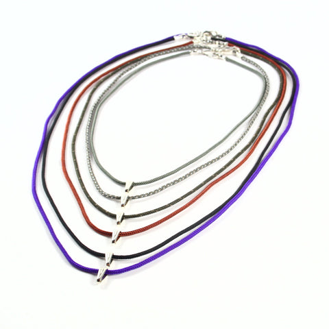 Climbing Rope Cord Necklace - Sterling silver findings