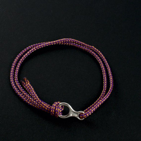 Figure 8 Descender Bracelet - Handmade in sterling silver - Shown in purple gold