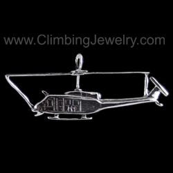 Huey Helicopter Pendant - Handmade in sterling silver