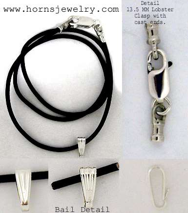 Leather Cord Necklace with Sterling Silver Findings