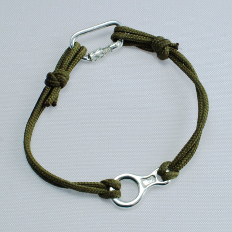 Figure 8 Descender and Functional Carabiner Bracelet - Handmade in sterling silver