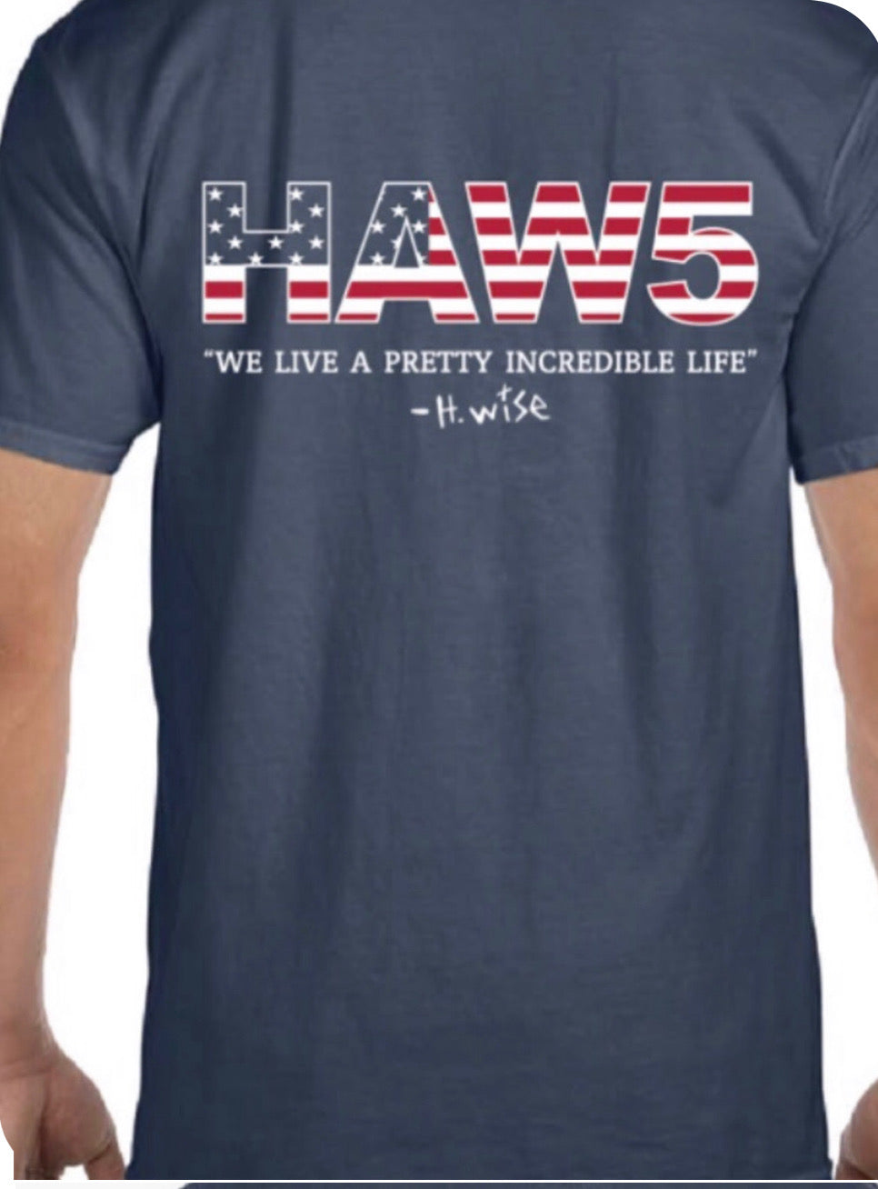 HAW5 Foundation Red White and Blue Short Sleeve T-Shirt