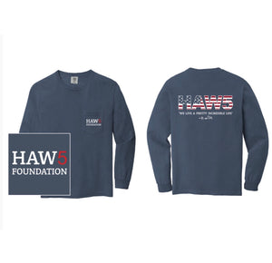 HAW5 Foundation Long Sleeve Blue T-Shirt