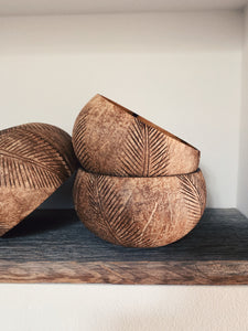 NATURAL PALM COCONUT BOWL