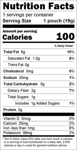 Organic Paleo Chocolate Power Fuel 2go Nutrition Facts