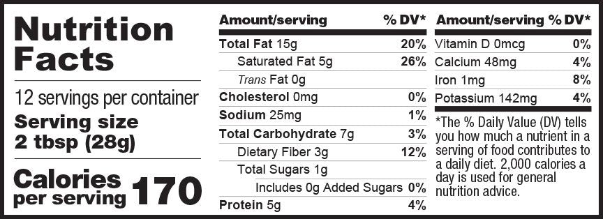 Chocolate Keto Crunchy nutrition facts