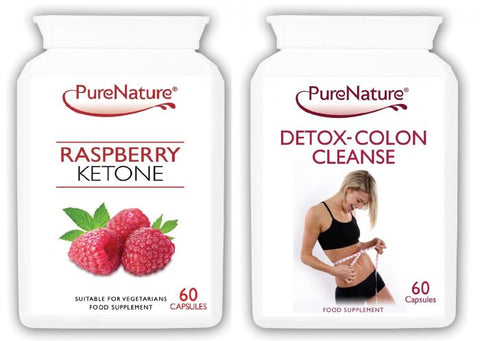 Pure Raspberry Ketones and Detox Colon Cleanse Combo